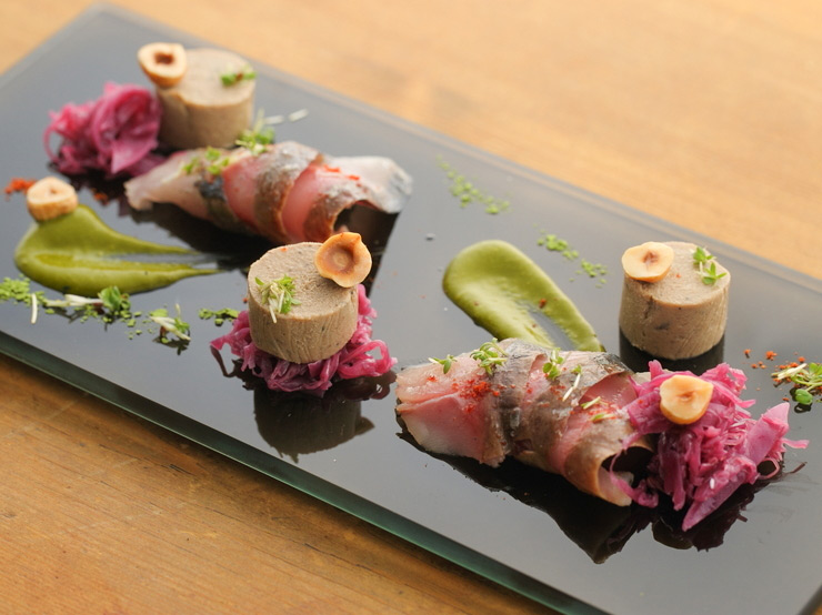 the elegant food of french-japanese fusion cuisine