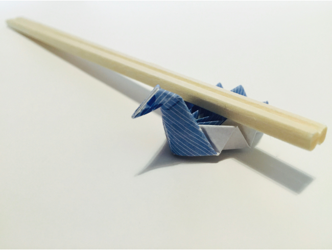 Origami Chopstick Wrapper: Swan Instructions in 11 Easy Steps