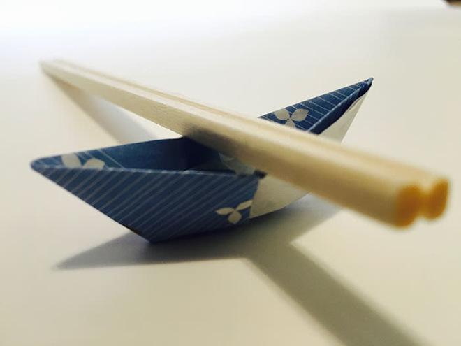 Origami Chopstick Holder Boat Instructions In 13 Easy Steps Savor