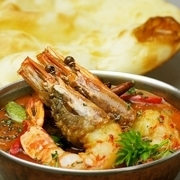 India Restaurant Tirupati_New dish: head-on shrimps in a Bangali shrimp curry.