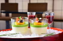 "Kawajin Main Store_From our desert menu, ""Condensed Milk Pudding"""