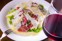 "La Pecora_The lamb and parmesan cheese work so well together in this ""Lamb Carpaccio"""