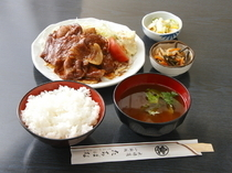 Ginza Tachibana_Ginger Pork Fried Set The thick slices of meat with its good texture and flavor give this dish its appeal.