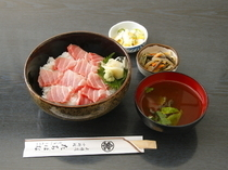 Ginza Tachibana_Toro (Fatty Tuna) Rice Bowl Loaded with thick slices of gleaming pink toro