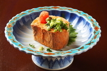 Kanda Ajigura Namakoya_Extra-large Monkfish Liver, a sumptuous dish using the finest monkfish available.