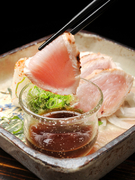 Kirakutei_Seared Kyoto pedigree chicken, which one can savour due to the freshness of the ingredients