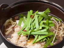 Yumehana Genkido_Motsunabe (offal hot pot)-made with a delicate broth of all-natural ingredients.