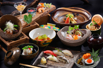 Sushi Hasegawa Shinsaibashi Main branch_[Genji] Course with 11 dishes in total. Fully enjoy sushi and Kyoto cuisine.