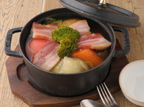 Minoru Shokudo Ginza Mitsukoshi_Chunky vegetables stewed with mature bacon, a dish overflowing with the flavour of seasonal vegetables