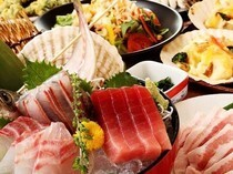 Kyushu Private Room Izakaya All-You-Can-Eat shabu-shabu UMAIMON Shimbashi Ekimae branch_[Courses with All-You-Can-Drink for 3 Hours] from 2,980 JPY, ideal for farewell parties. Reasonable coupons are also available on specific days of the week.