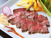 "BISTRO KANZO_Experience richly flavored, tender Hida Beef with our specialty.  ""Hida Beef Roast Harami (Skirt) Steak Course"""