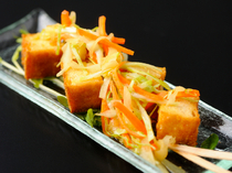 "OISHI KOMACHI SHINSEN_""Sweet and Sour Marinated Atsuage (deep-fried tofu)"" is the perfect bite-sized snack for a hot summer day"