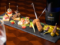 Apero Gilda_[Three Assorted Pincho of the Day] Also enjoy its presentation.