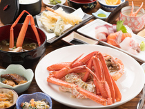 Oshokuji-dokoro Kaigan_[Kaigan Set Meal] Eat up red snow crab meat and innards.
