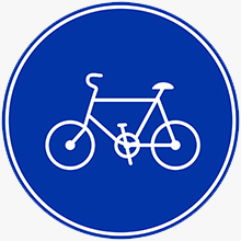 """Bicycle only"" sign"